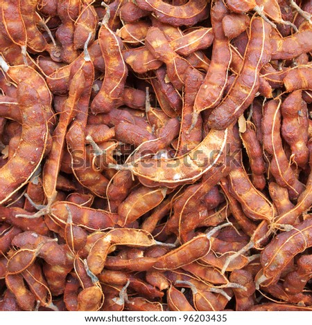 tamarind fruit background - stock photo