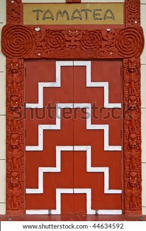 Tamatea, Otakou Marae, Maori Church and Meeting House, Dunedin, Otago Peninsula, New Zealand - stock photo