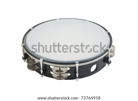 Tambourine the one of the music instrument that give the happiness for you - stock photo