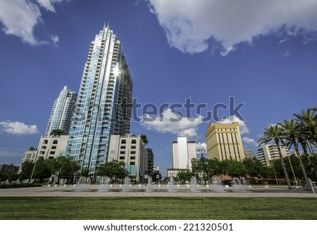 Tampa, FL Downtown city  - stock photo