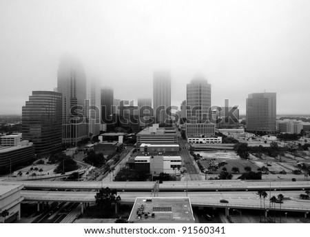 Tampa, Florida in the Fog - stock photo