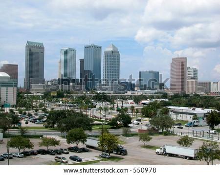 Tampa Skyline - stock photo