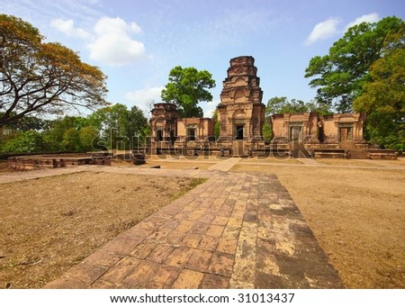 tample in cambodia - stock photo