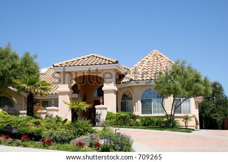 Tan House - stock photo