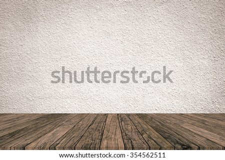 tan sepia colored cement background with red brown wood panels stripe line perspective view:grunge retro aged wooden backdrop and warm tone wallpaper:show,advertising,promote products/goods on display - stock photo