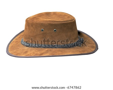 Tan Suede Stetson - stock photo