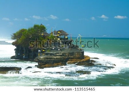 Tanah Lot, Bali Island. Indonesia - stock photo