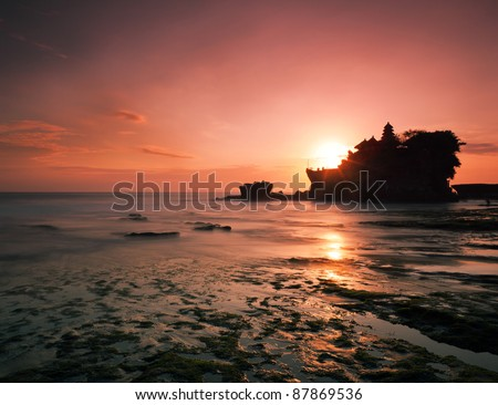 Tanah Lot Temple - stock photo