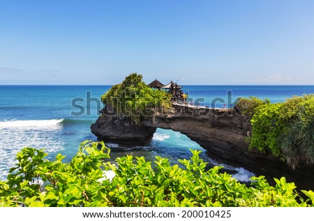 Tanah Lot Temple,Bali, Indonesia - stock photo