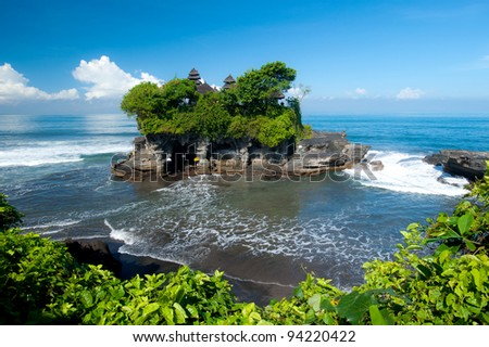 Tanah Lot temple, in Bali island, indonesia