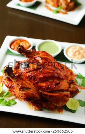 Tandoori Chicken , Indian spicy food