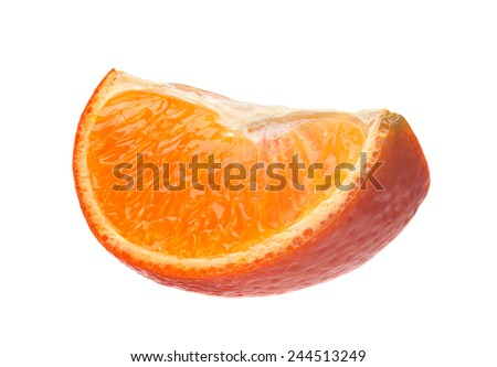 Tangerine citrus part isolated on white background - stock photo