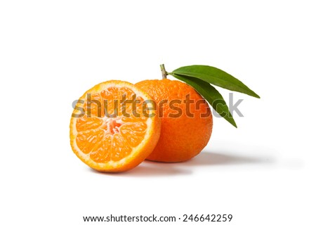 tangerine isolated - stock photo