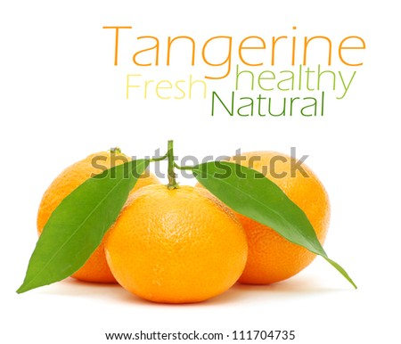 Tangerine isolated on a white background - stock photo
