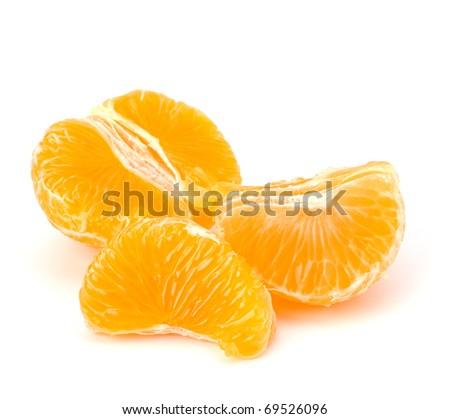 Tangerine isolated on white background - stock photo