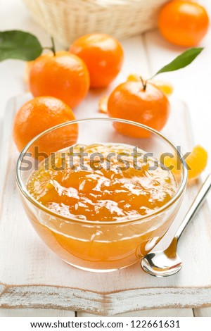 Tangerine jam - stock photo