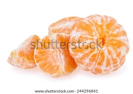 tangerine peeled - stock photo