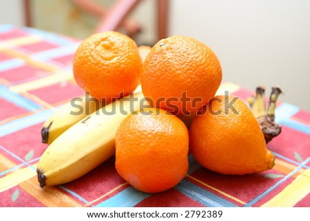 Tangerines, bananas