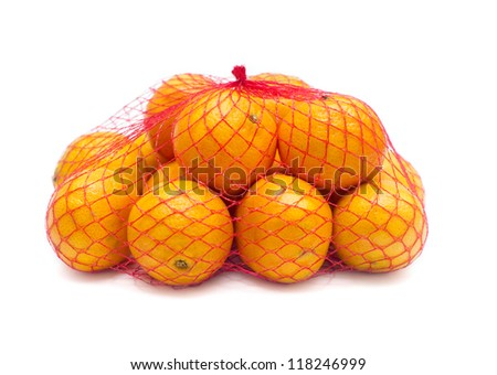 tangerines in a grid on a white background isolated