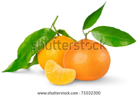 Tangerines isolated on white
