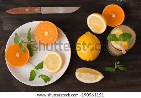 Tangerines, lemons and limes  - stock photo