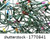 Tangled Christmas lights - stock photo