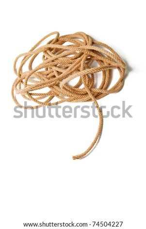 Tangled coil rope - stock photo