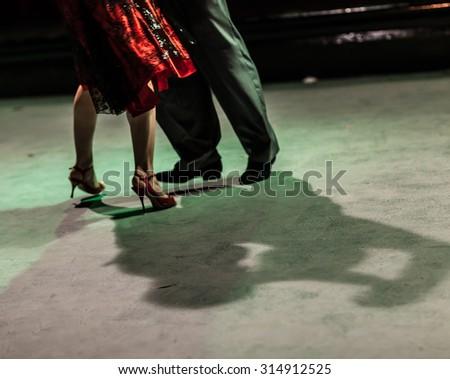 Tango shoes detail. Italy - stock photo