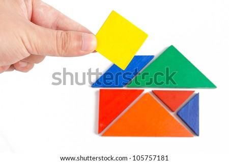 Tangram - stock photo