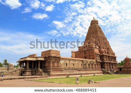 Tanjore Big Temple (Brihadeshwara Temple) in Tamil Nadu, Oldest and Tallest temple in India.