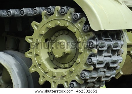 Tank Caterpillar Track with Wheels