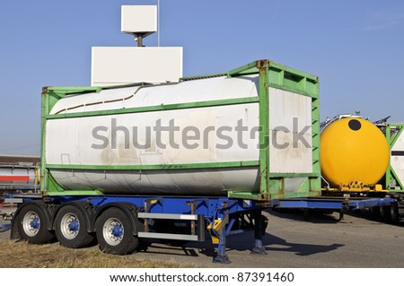 tank container - stock photo