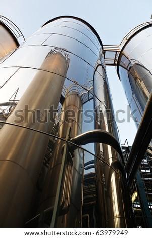 Tank farm with pipeline #2 - stock photo