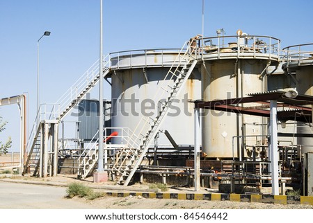 tank for acid storage on industrial site
