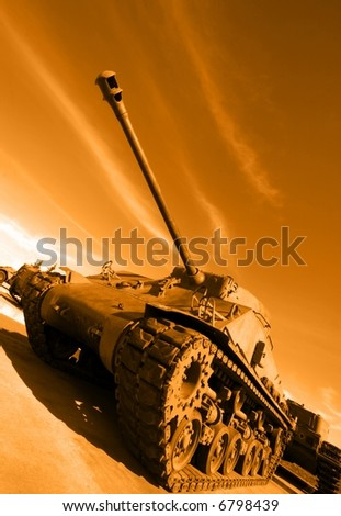 Tank from the past - stock photo