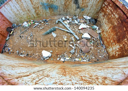 tank full of garbage from landfill throw - stock photo