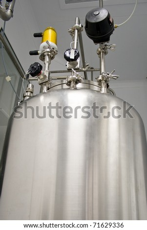Tank in a clean room, production of medicines - stock photo