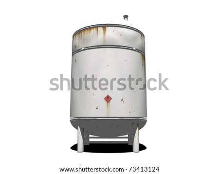 tank isolated on white background