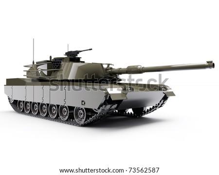 tank isolated on white background - stock photo