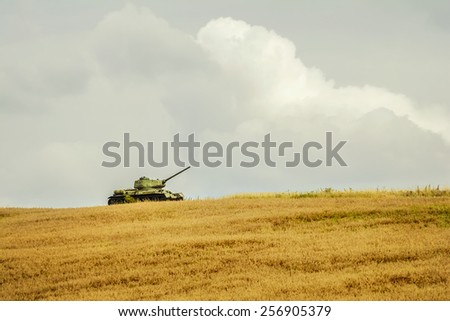 Tank of Second World War - stock photo