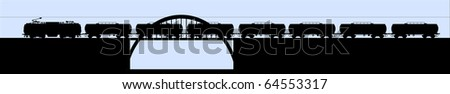 Tank train vector - stock photo