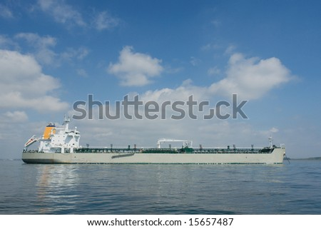 Tanker moored in an anchorage