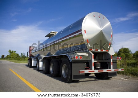 Tanker on the road - stock photo