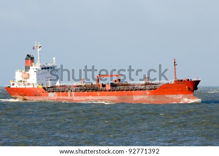 Tanker ship on sea - stock photo