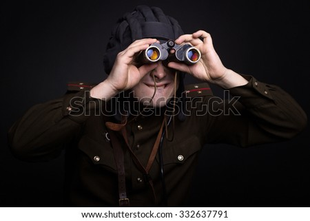 tanker soldier spy - stock photo
