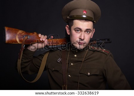 tanker, soldier, spy - stock photo