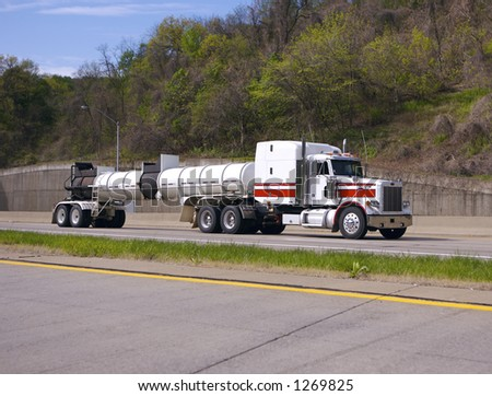 Tanker Truck on the Highway - stock photo