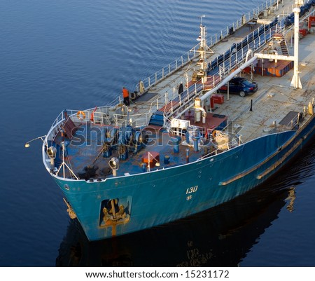 tankers deck - stock photo