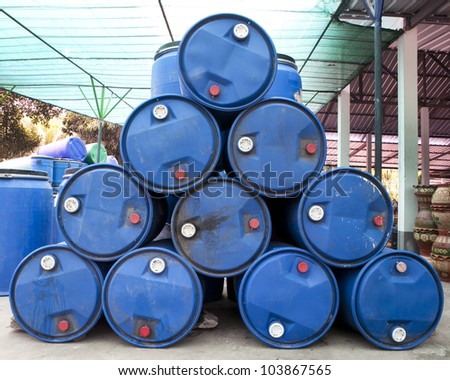 Tanks that are not used to remove the show. - stock photo