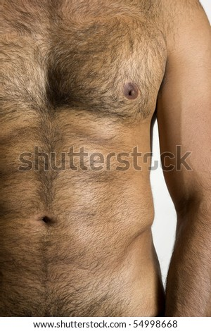 Tanned Male Torso - stock photo